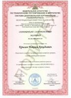 Сертификат соответствия эксперта №СДС.ТП.008253-09